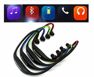 Wireless Bluetooth Sports Stereo Headset Headphones With Call Microphone Mic