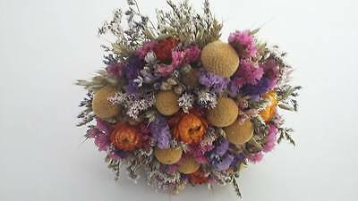 Dried Flower Wedding Bouquet by Florence and Flowers Designer Florist