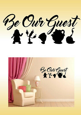 Beauty and the beast Disney Inspired  wall art Sticker Decal Home decor