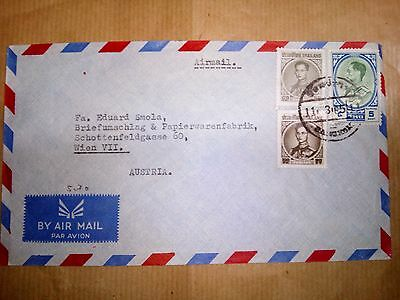 Thailand 11.3.1965 Stamps & Cover Air Mail To Austria