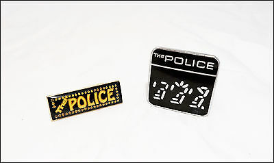 The Police Lot Of 2 80's Pins Badges / Ghost In The Machine