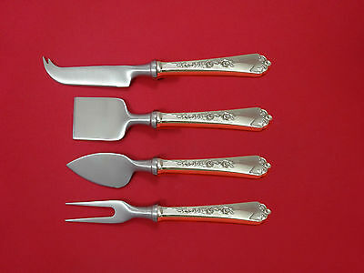 Sterling Rose by Wallace Sterling Silver Cheese Serving Set 4pc HHWS  Custom