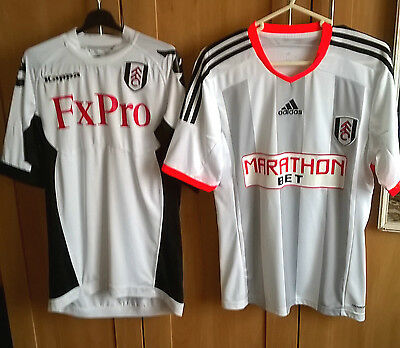 2 x FULHAM FOOTBALL CLUB TOPS IN SMALL AND MEDIUM