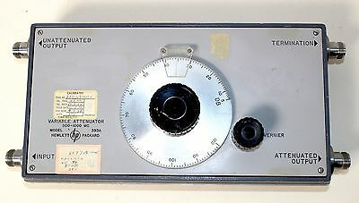 HEWLETT PACKARD HP 393A VARIABLE ATTENUATOR 5 to 120 dB 500-1000 MHZ
