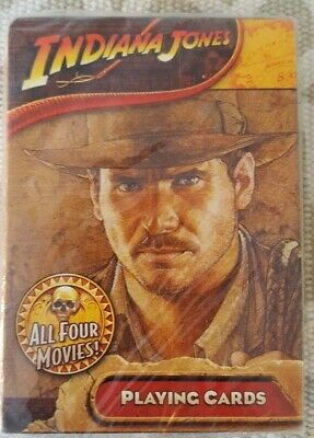 New Deck Of Indiana Jones Four Movie Scenes Playing Cards w/ Harrison Ford !!!