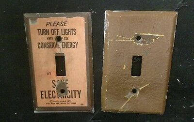 Vintage Heavy Duty Brass 2 Light Switch Cover