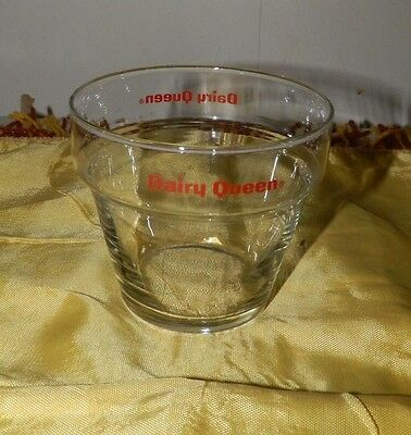 Vintage Dairy Queen Glass Sundae Bowl-Neat Item!