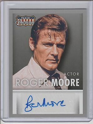 2015 Panini Americana Roger Moore Auto James Bond 007 Actor Autograph
