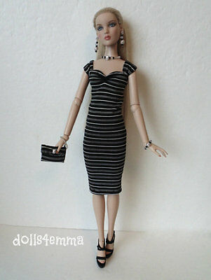 CAMI & Antoinette Doll Clothes DRESS PURSE & JEWELRY handmade Fashion NO DOLL