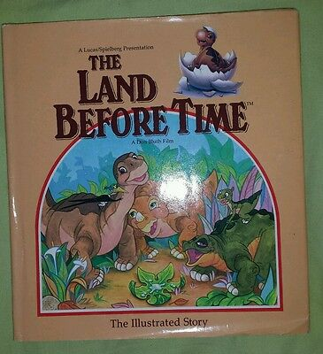1988 The Land Before Time: The Illustrated Story; Hardcover Rare Book