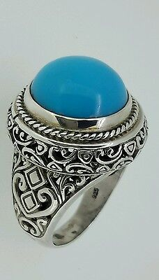 Vintage Handmade Round persian Turquoise Ring