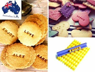 Letters Alphabet Numbers Stamp Cookie Biscuit Embosser Fondant Sugercraft Mold @