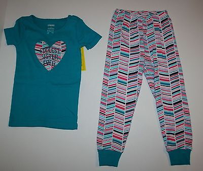 NEW Gymboree Coolest Sister Heart Pajamas Gymmies PJs Size 3 4 5 6 7 8 10 year
