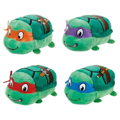 "Set of 4 Ty Beanie Boos 4"" Teeny Tys Ninja Turtle New Heart Tag MWMT's Stackable"