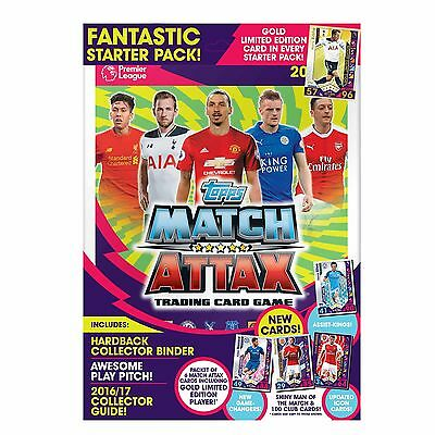Match Attax Epl Premier League 2016/17 Trading Cards Starter Pack *free Delivery