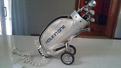 Golf bag phone with clubs corded land line telephone Working