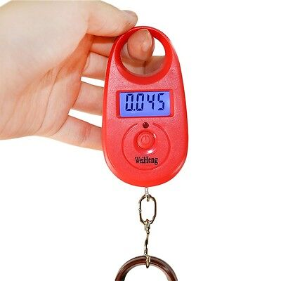 25kg x 5g Mini Hanging Luggage Fishing Hook Electronic Balance Digital Scale