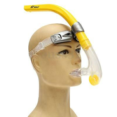Yellow Swimmer Silicone Air-Ease Center Front-mount Swimming Training Snorkel