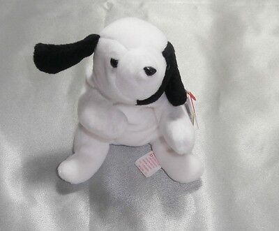 "Ty Beanie Babies "" Spot The White & Black Dog""  Retired Mint With Mint Tag"