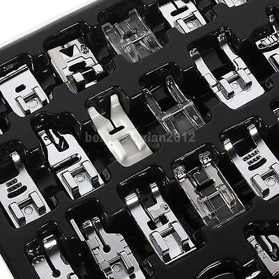 32 PCS Sewing Machine Presser Foot Feet For Brother Singer Janome Domestic