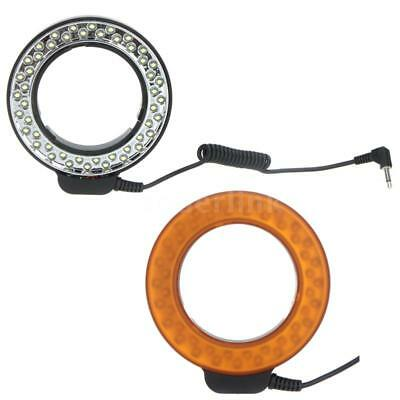 Andoer 48 LEDs Macro Close-Up Ring Flash Light with 2 Diffusers for DSLR Camera