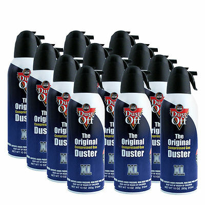 12 x Dust Off - The Original Compressed Duster 300ml / Gaming / PC / Keyboard