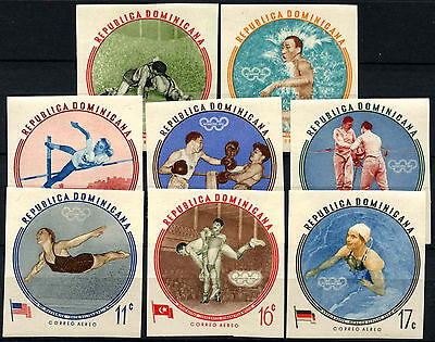 Dominican Republic 1960 SG#813-821 Olympic Games MNH Imperf Set #D37610