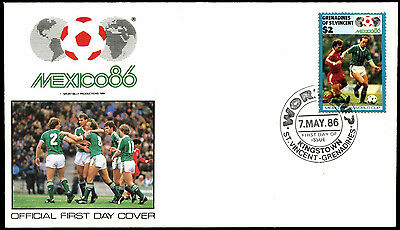 Grenadines Of St. Vincent 1986 N. Ireland World Cup Football Cover #C38398