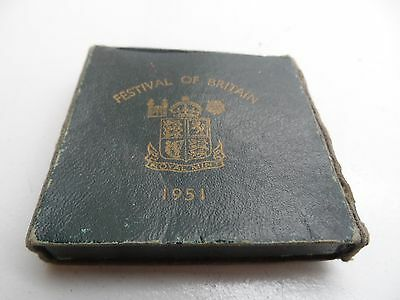 Cased 1951 Crown Coin In Green Case & Leaflet No Reserve