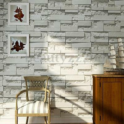 3D Stone Brick Wall Paper Background Nonwovens Mural Living Room Roll Home Decor