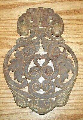 Vintage/Antique Large Cast Iron Metal Door Knocker/Architectural Hardware
