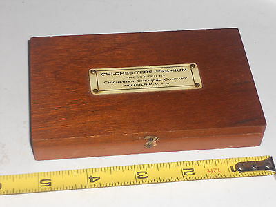 1930'S CHICHESTER Weight Set TROEMNER w/ Celluloid label Apothecary Pharmacy