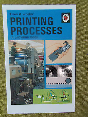Ladybird Book POSTCARD Printing Processes 1970s vintage childrens