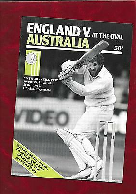 1981 England v Australia test match at The Oval official programme