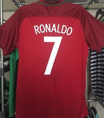Cristiano Ronaldo CR7 Signed Portugal Shirt Euro 2016 Winners Real Madrid