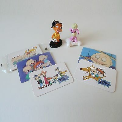RARE Rugrats Cereal Toys BUNDLE Figures Lenticular Cards Susie Fifi Kelloggs