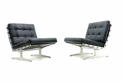 Rare Pair of Slipper Lounge Chairs by Poul Leidersdorf, Denmark 1960`s