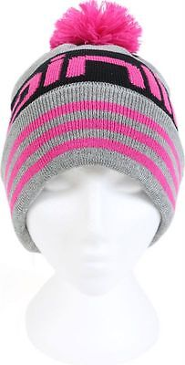 Mainline Carp Grey with Pink knitted Bobble hat.