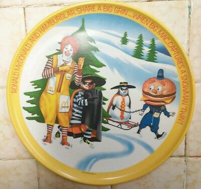 Vintage Collectible Ronald McDonald & Friends Winter Holidays 1977 Plate