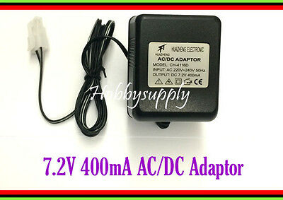 DC 7.2V 400mA AC/DC Adaptor AC 220-240V 50Hz with Tamiya & UK Plug charger x 1