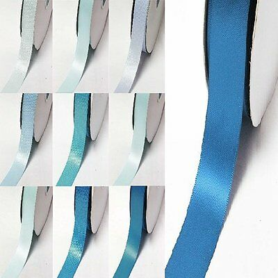 "YAMA Double Faced Satin Ribbon 1.5"" /38mm. 100 Yards/ Roll ,Blue s #352 to #374"