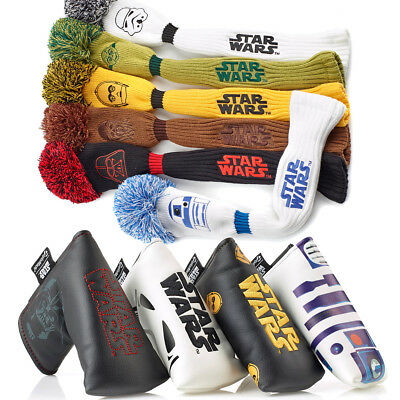 TaylorMade Star Wars Golf Head Covers - Driver Wood Pom - Blade Putter