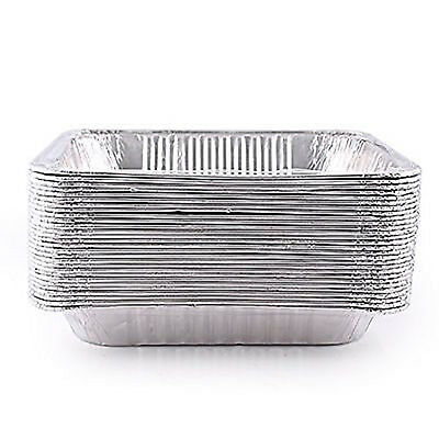 50 Half Size Deep Aluminum Steam Table Pan Disposable Party Trays 5132PSS
