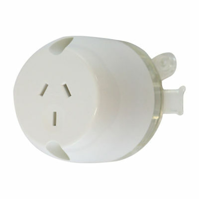 10 x Surface Socket, Plug base Single Outlet White Electrical - LED DOWNLIGHTS