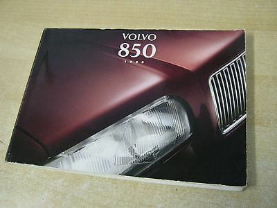 Volvo 850 Owners Handbook 1995 In Excellent Condition