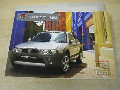 Rover Streetwise Owners Manual Handbook And Service Section