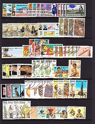 Botswana Various Complete Fine Used Commemorative Sets 1966-1981.