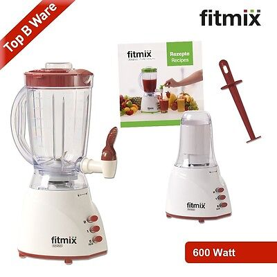 Fitmix Mixer 600 W rot B Ware Smoothie Maker Standmixer Fitness Mediashop