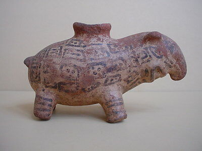 Pre-Columbian Painted Earthenware Tapir Vessell 1000 AD-1492 AD Costa Rica