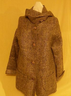 Hand Made Wool Sweater-Coat From Greece, Reversible, Unique